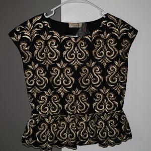 Stunning Embroidered Zara Peplum Top NWT